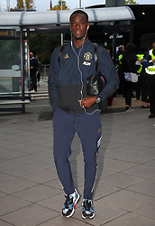 Eric Bailly of Manchester United is spotted on his way to catch a flight as the team fly to Turin on Tuesday afternoon to play Juventus in The Champions League on Wednesday night.