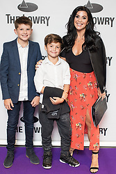 © Licensed to London News Pictures . 30/08/2017 . Salford , UK . Stacey Forsey . Purple carpet photos of celebrities, actors and invited guests arriving for the press night of the musical comedy , Addams Family , at the Lowry Theatre . Photo credit : Joel Goodman/LNP