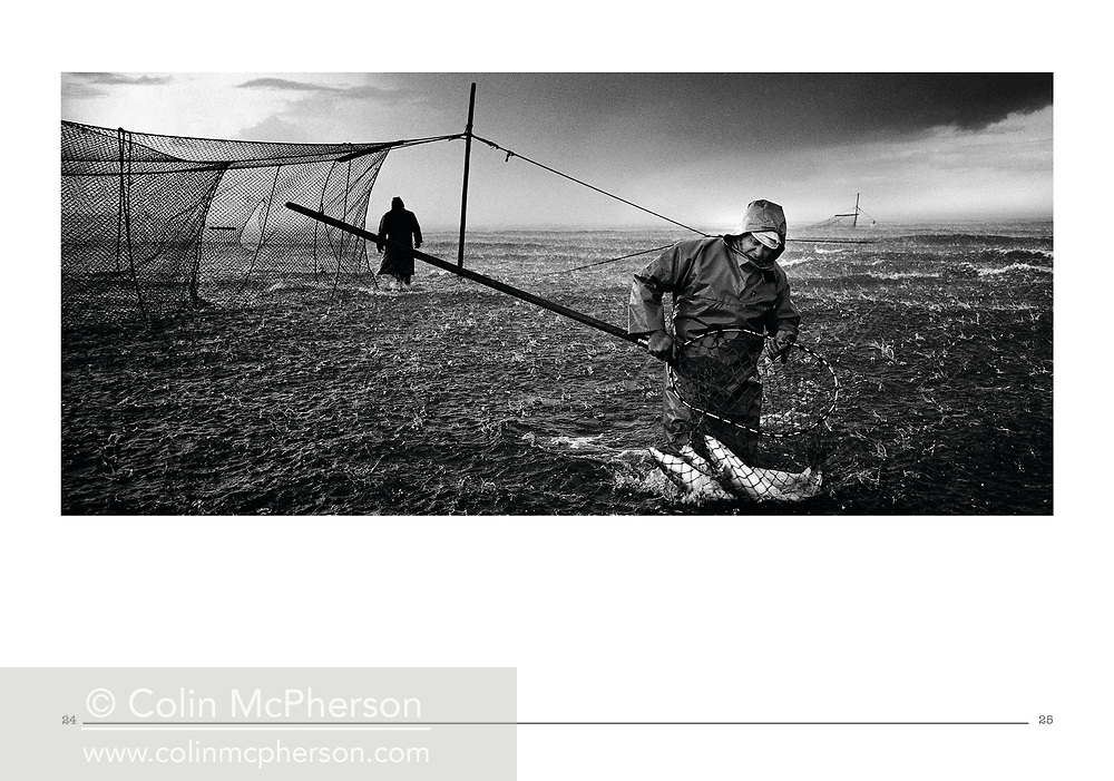 'An Independent Eye', a photo book published in 2016. <br /> <br /> It was published to mark the end of print publishing of the Independent and Independent on Sunday newspapers, who I had worked for as a freelance on assignments and commissions from 1995 until 2016.<br /> <br /> Photo shows: Salmon netsman, Angus, 2000.<br /> <br /> It was self-published the same year in an edition of 250.