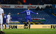Goal celebration by Cardiff City midfielder Anthony Pilkington (13) during the EFL Sky Bet Championship match between Leeds United and Cardiff City at Elland Road, Leeds, England on 3 February 2018. Picture by Paul Thompson.