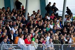 Spectators during the football match between NK Triglav Gorenjska and NK Olimpija, played in the 9th Round of Prva liga football league 2010 - 2011, on September 19, 2010, Mestni stadion, Kranj, Slovenia. Olimpija defeated Triglav 5 - 0. (Photo by Vid Ponikvar / Sportida)