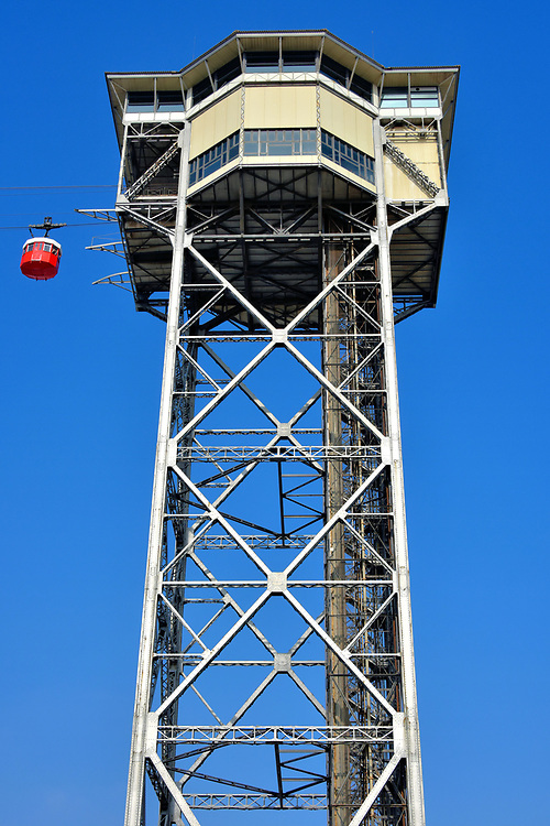 Torre de Sant Sebasti&agrave; in Port Vell in Barcelona, Spain<br />