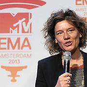 NLD/Amsterdam/20131109 - Pressconference MTV EMA 2013, vice mayor of Amsterdam, Carolien Gehrels