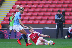 February 23, 2019 - Sheffield, England, United Kingdom - Kim Little (Captain) of Arsenal sliding into the ball against Steph Houghton of Manchester City..during the FA Women's Continental League Cup Final football match between Arsenal Women and Manchester City Women at Bramall Lane on February 23, 2019 in Sheffield, England. (Credit Image: © Action Foto Sport/NurPhoto via ZUMA Press)