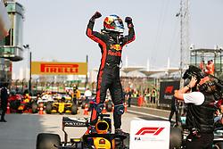 April 15, 2018 - Shanghai, China - RICCIARDO Daniel (aus), Aston Martin Red Bull Tag Heuer RB14, portrait celebrating, during 2018 Formula 1 FIA world championship, China Grand Prix, at Shanghai from April 12 to 15  (Credit Image: © Hoch Zwei via ZUMA Wire)