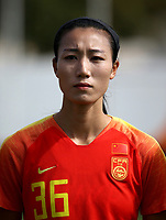 International Women's Friendly Matchs 2019 / <br /> Womens's Algarve Cup Tournament 2019 - <br /> China v Norway 1-3 ( Municipal Stadium - Albufeira,Portugal ) - <br /> LIN YUPING of China