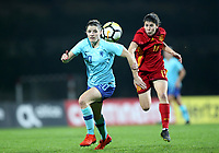International Women's Friendly Matchs 2019 / <br /> Womens's Algarve Cup Tournament 2019 - <br /> Spain v Netherlands 2-0 ( Municipal Da Bela Vista Stadium- Parchal,Portugal ) - <br /> Dominique Bloodworth of Netherlands (L) ,challenges with Lucia Garcia of Spain (R)
