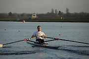 Eton, GREAT BRITAIN,  Matthew WELLS, M1X, powers away from the Start, GB Trials 3rd Winter assessment at,  Eton Rowing Centre, venue for the 2012 Olympic Rowing Regatta, Trials cut short due to weather conditions forecast for the second day Sunday  13/02/2011   [Photo, Karon Phillips/Intersport-images]