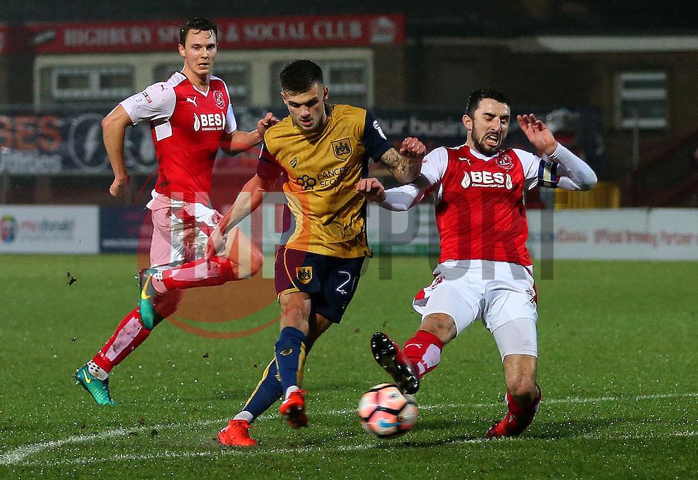 Jamie Paterson of Bristol City scores his sides first goal  - Mandatory by-line: Matt McNulty/JMP - 17/01/2017 - FOOTBALL - Highbury Stadium - Fleetwood,  - Fleetwood Town v Bristol City - Emirates FA Cup Third Round Replay