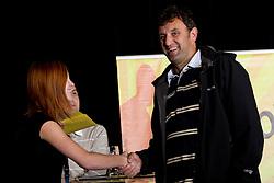 Nagrajenec na okrogli mizi o krizi slovenskega rokometa danes, 26. oktober 2010, kongresna dvorana Mercurius, BTC City, Ljubljana, Slovenija. (Photo by Vid Ponikvar / Sportida)