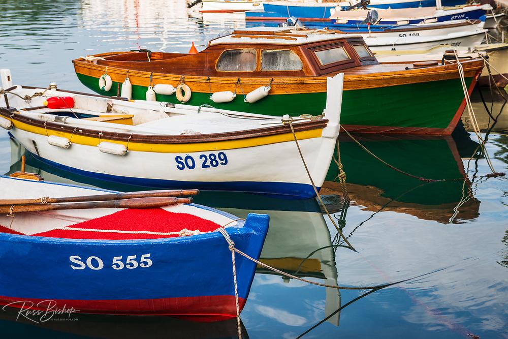 Colorful fishing boats, Sipanska Luka, Sipan Island, Dalmatian Coast, Croatia