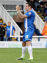 Peterborough United's Lee Tomlin claps the fans after scoring  - Photo mandatory by-line: Joe Dent/JMP - Tel: Mobile: 07966 386802 17/08/2013 - SPORT - FOOTBALL - London Road Stadium - Peterborough -  Peterborough United V Oldham Athletic - Sky Bet League One