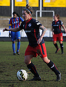 Laura Walkley in action during the FA Women's Cup match between Crystal Palace LFC and Reading Women at Bromley, England on 8 February 2015. Photo by Michael Hulf.