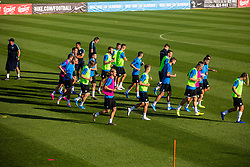 Slovenian national football team during practice session of Slovenian national football team in national football center in Brdo, 2nd of September, 2019, NNC Brdo. Photo by Grega Valancic / Sportida