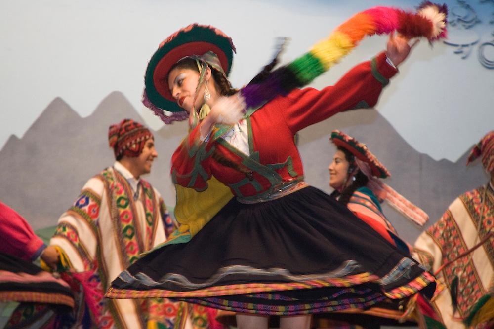 Traditional dancers, Cuzco, Peru, South America
