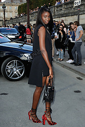 Karidja Toure arriving at the Elie Saab show as a part of Paris Fashion Week Ready to Wear Spring/Summer 2017 in Paris, France on October 01, 2016. Photo by Aurore Marechal/ABACAPRESS.COM