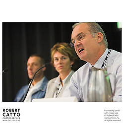 Rob Fenwick;Annemarie Duff;Stephen Smith at the Spada Conference 2005: Small Country, Big Picture at the Intercontinental Hotel, Wellington, New Zealand.