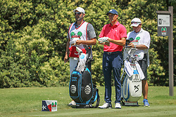 May 26, 2018 - Fort Worth, TX, U.S. - FORT WORTH, TX - MAY 26: Jordan Spieth (USA) and his caddie look over the 9th hole during the third round of the Fort Worth Invitational on May 26, 2018 at Colonial Country Club in Fort Worth, TX. (Photo by George Walker/Icon Sportswire) (Credit Image: © George Walker/Icon SMI via ZUMA Press)