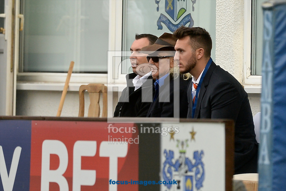 Blackpool owner Owen Oyston (2nd left) pictured ahead of the Sky Bet League 1 match at Gigg Lane, Bury<br /> Picture by Ian Wadkins/Focus Images Ltd +44 7877 568959<br /> 31/10/2015