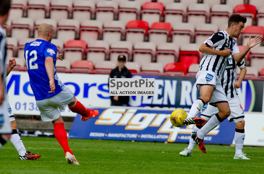 Dunfermline Athletic v Cowdenbeath SPFL League One Season 2015/16 East End Park 15 August 2015<br /> Pat Scullion scores from range to make it 7-1<br /> CRAIG BROWN | sportPix.org.uk