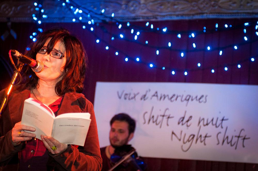 Shift de nuit, Animé par Michel Vézina. Poètes invités:    J Diane Régimbald, Frans Ben Callado, Jean-François Poupart.  Musiciens: Philippe Brault, Guido Del Fabbro, 6 février 2008