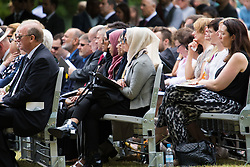 Hyde Park, London, July 7th 2015. Families of the victims and survivors of the 7/7 bombings in London gather at Hyde Park and are joined by the Duke of Cambridge Prince William at an emotional service commemorqating the Islamist terrorist bombing outrage that happened on London's transport network, claiming 57 lives and left scores of people injured. PICTURED: