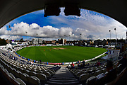The scene before day 4 of the Specsavers County Champ Div 2 match between Sussex County Cricket Club and Nottinghamshire County Cricket Club at the 1st Central County Ground, Hove, United Kingdom on 28 September 2017. Photo by Simon Trafford.