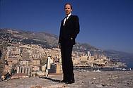 HRH Albert of Monaco, on the prince palace ramparts   Monaco  Monaco        S.A.S. Albert de Monaco sur les remparts du palais  Monaco  Monaco   R00245/    L3205  /  R00245  /  P0005190