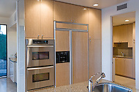 Modern kitchen with stainless steel appliance