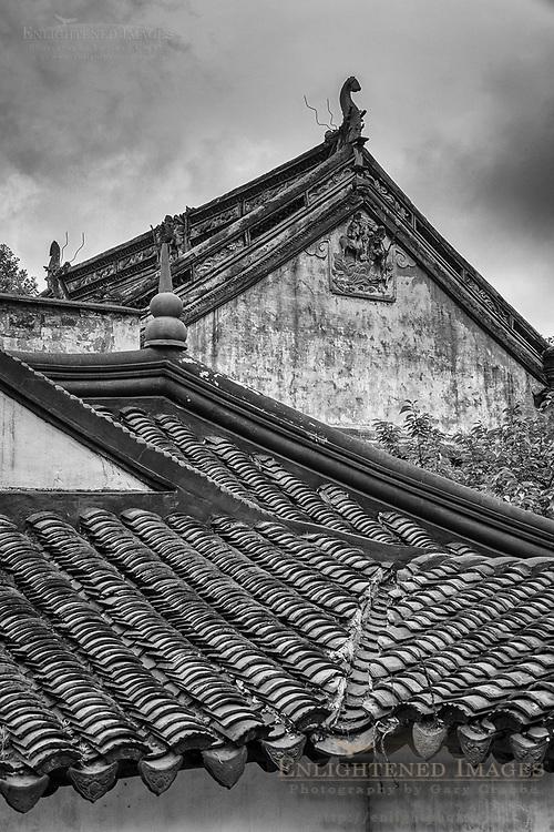 Roof detail at Lion Grove Garden, Suzhou, jiangsu Province, China
