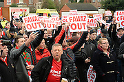 Nottingham Forest fans stage a peaceful demonstration to show their frustration against Forest chairman Fawaz Al-Hasawi ahead of the EFL Sky Bet Championship match between Nottingham Forest and Bristol City at the City Ground, Nottingham, England on 21 January 2017. Photo by Jon Hobley.