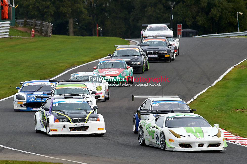 #60 Wayne MARRS Ferrari 458 GTC during GT Cup - Race 1 as part of the MSVR Oulton Park 10th October 2015 at Oulton Park, Little Budworth, Cheshire, United Kingdom. October 10 2015. World Copyright Taylor/PSP. Copy of publication required for printed pictures.  Every used picture is fee-liable. http://archive.petertaylor-photographic.co.uk