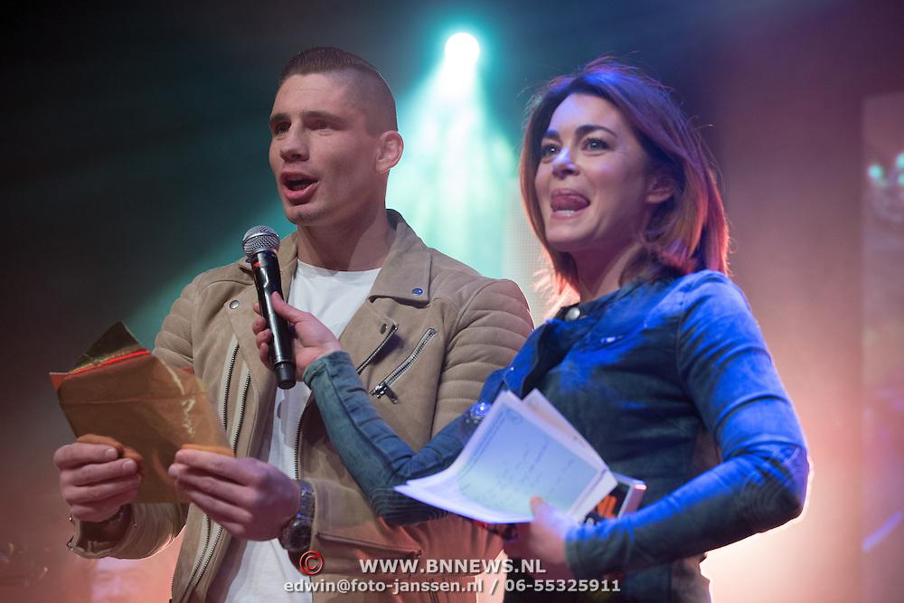NLD/Uitgeest/20170207 - Uitreiking 100% NL Awards 2016, Rico Verhoeven en Kim-Lian van der Meij