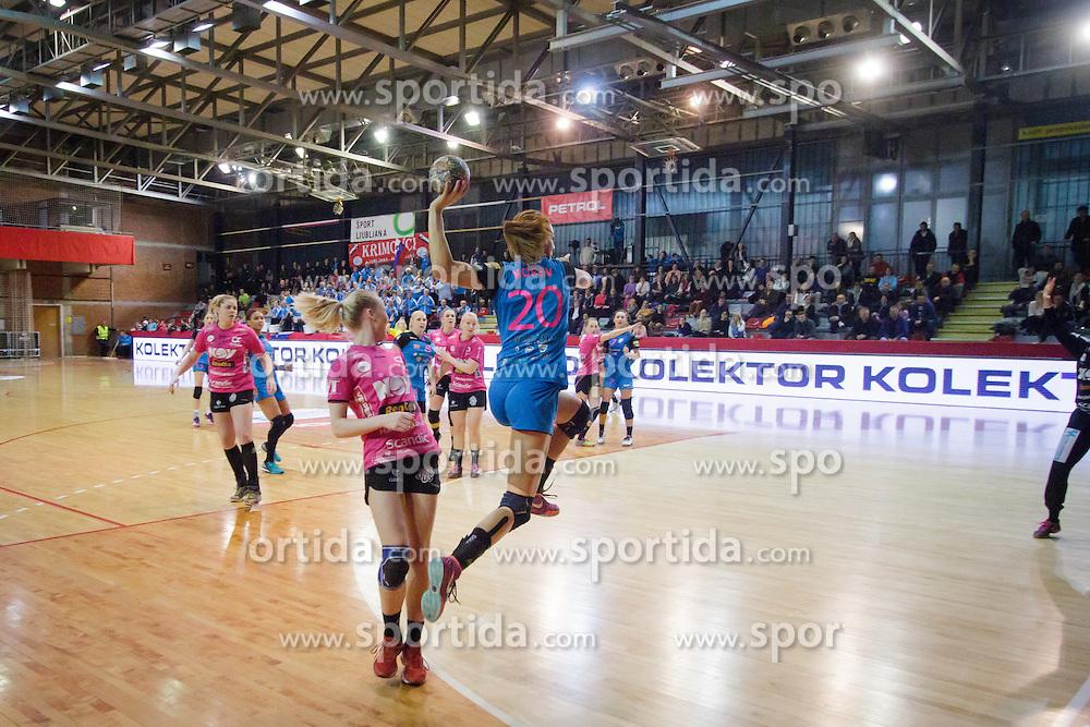 Alja Koren of RK Krim Mercator (SLO) during the return handball match of the EHF Women's Cup Winners' Cup between RK Krim Mercator and Vipers Kristiansand, on February 27, 2016 in Arena Kodeljevo, Ljubljana, Slovenia. Photo by Ziga Zupan / Sportida