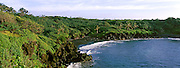 High angle view of a coast, Hana Coast, Waianapanapa State Park, Maui, Hawaii, USA