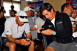 Bruni and Marinho in Skippers Briefing. French Match Race. Photo:Chris Davies/WMRT