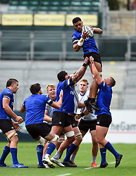 Taulupe Faletau wins the ball at a lineout, Bath Rugby were allowed to start Stage Two of the Premiership Rugby return to play protocol - Mandatory byline: Patrick Khachfe/JMP - 07966 386802 - 06/08/2020 - RUGBY UNION - The Recreation Ground - Bath, England - Bath Rugby training
