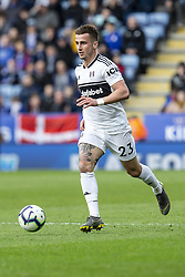 March 9, 2019 - Leicester, Leicestershire, United Kingdom - Joe Bryan of Fulham FC during the Premier League match between Leicester City and Fulham at the King Power Stadium, Leicester on Saturday 9th March 2019. (Credit Image: © Mi News/NurPhoto via ZUMA Press)