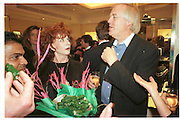 Edna O'Brien and Sir Tim Rice. Theo Fennell Store party for friends. 7 November 1996. South Kensington, London. © Copyright Photograph by Dafydd Jones 66 Stockwell Park Rd. London SW9 0DA Tel 020 7733 0108 www.dafjones.com