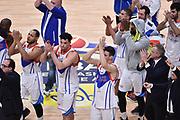Campionato italiano Legabasket 2017/18<br /> 25° Giornata Ritorno  07/04/2018   <br /> Segafredo Virtus Bologna - Red October Cantù  83-88<br /> nella foto team cantu marco Sodini time out <br /> Foto GiulioCiamillo/ Ciamillo-Castoria