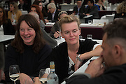 CARAGH THURING; LISA GUNNING, Opening of Frieze Masters. Regent's Park. London. 15 October 2013.