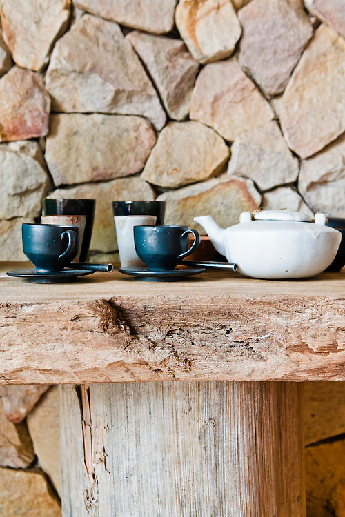 Cermaic coffe and tea set. Song Saa Private Island