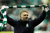 Football - Scottish Premier League -  Hibernian vs Dunfermline<br /> <br /> Hibernian player Garry O'Conner takes a lap of honour at the end of the match during the  Hibernian vs Dunfermline Scottish Premier League match at Easter Road, Edinburgh on May 7th 2012<br /> <br /> Ian MacNicol/Colorsport
