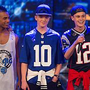 NLD/Hilversum/20130706 - Finale X-Factor 2013, optreden B-Brave,  Kaj van der Voort, Cassius Verbond, Jai Wowor, Sam Leijten en Dioni Jurado-Gomez