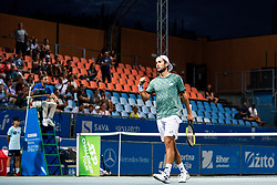 Viktor Durasovic of Norway celebrates during semifinal match during Day 9 of ATP Challenger Zavarovalnica Sava Slovenia Open 2019, on August 17, 2019 in Sports centre, Portoroz/Portorose, Slovenia. Photo by Morgan Kristan / Sportida