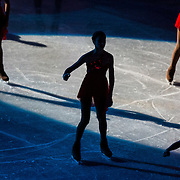 The opening ceremonies of the championship ladies short program at the 2014 US Figure Skating Championships at TD Garden in Boston, MA, on January 9, 2014.