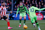 Forest Green Rovers midfielder Charlie Cooper (15) looks on during the EFL Sky Bet League 2 match between Lincoln City and Forest Green Rovers at Sincil Bank, Lincoln, United Kingdom on 30 December 2017. Photo by Simon Davies.