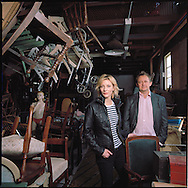 Artistic directors of the Sydney Theatre Company, Australian Actress Cate Blanchett and her husband, playwright and screenwriter, Andrew Upton.<br />