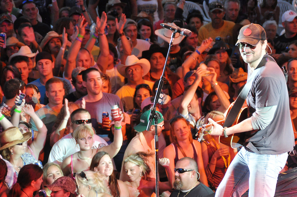 Andrew Knapp, FLORIDA TODAY -- April 15, 2011 -- Country musician Eric Church performs Friday night at the Runaway Country Space Coast Music Fest at Wickham Park in Melbourne.