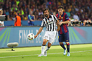 Andrea Pirlo of Juventus and Barcelona Lionel Messi during the Champions League Final between Juventus FC and FC Barcelona at the Olympiastadion, Berlin, Germany on 6 June 2015. Photo by Phil Duncan.